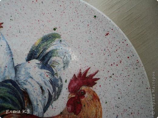 """Продолжение темы """"Птичий двор"""". Комплект сделан в подарок. Уже давно у новой хозяйки. Прямой декупаж. Салфетки, подрисовка, набрызг, лак. Финишный - стекловидный. фото 5"""