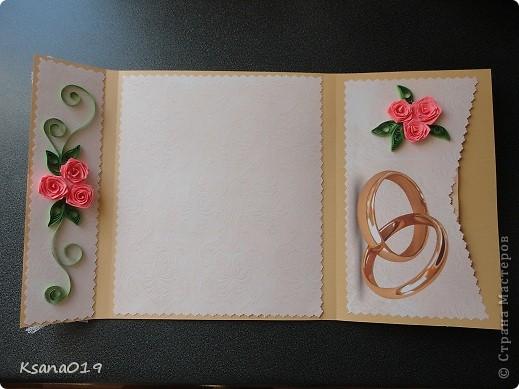 В июле гуляла на свадьбе племянницы,долго не могла определиться какую же открыточку мне сделать)) И вот что вышло)) Идею подглядела на сайте)) фото 3
