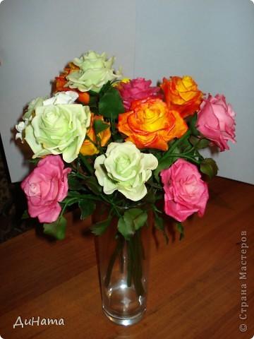 """сама в шоке,лепила,лепила,а когда собрала """"всех"""" в одну вазу была приятно удивлена таким пышным букетом)))) фото 2"""