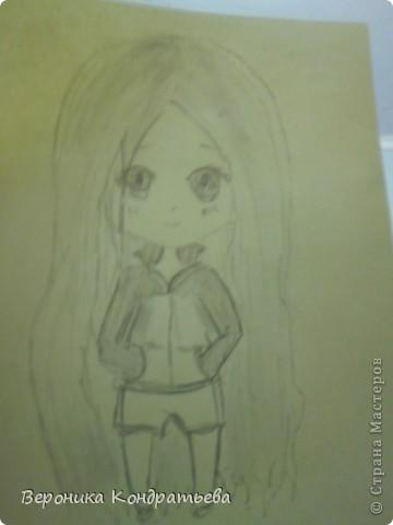 Срисовывала с конечного этапа AmIkO http://stranamasterov.ru/node/405227 Рисовать поэтапно неочень получается, но хоть срисовать получилось =D