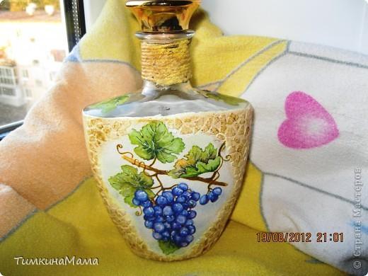 Бутылочка под домашнее вино для свекрови сестры. фото 1