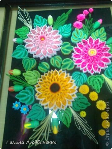 Самая первая моя работа в технике квиллинг. Большое спасибо за мастер-класс Ларисе Засадной http://stranamasterov.ru/node/104426 . фото 3
