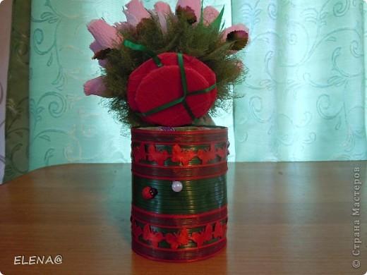 Вот-вот уже совсем скоро 1 сентября!Подготовка идет вовсю,начали с букетика-шкатулки для учителя группы продленного дня.Идея взята  http://stranamasterov.ru/node/339359?c=favorite.Сделано впервые! фото 4