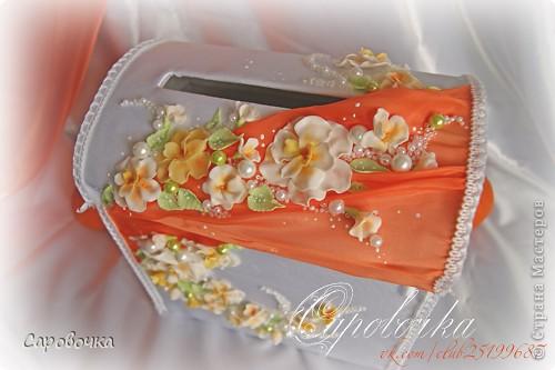 На севере мы были, на востоке и западе были, теперь в южную часть страны поехали) Что ж, радует, однакось))  Очередная свадебная  интересность - оформления апельсинами и салатовыми  и оранжевыми шариками. По теплому, по южному! Закос под гардении, но в другом цвете.http://stranamasterov.ru/node/335291  Приятного просмотра!  фото 6