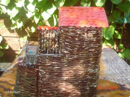 Вот такую водяную мельницу я сплела для одного знакомого в подарок фото 8