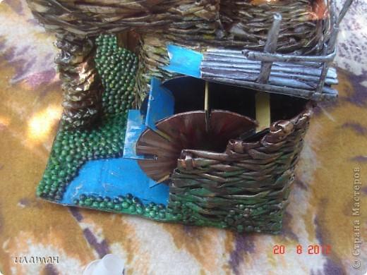 Вот такую водяную мельницу я сплела для одного знакомого в подарок фото 19