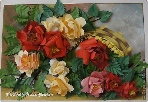 Добрый день, всем жителям Страны мастеров! Очень хотелось слепить перевернутую корзинку с розами. Вот что получилось.  фото 8