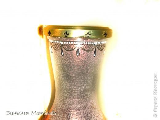 Здравствуйте жители СМ! Я сегодня к вам с новым бутылем, которы благополучно можно использовать и как вазочку. Росписала я его в подарок своим знакомым. Буду надеятся , что понравится. Желаю всем приятного просмотра и отличного настроения! фото 4