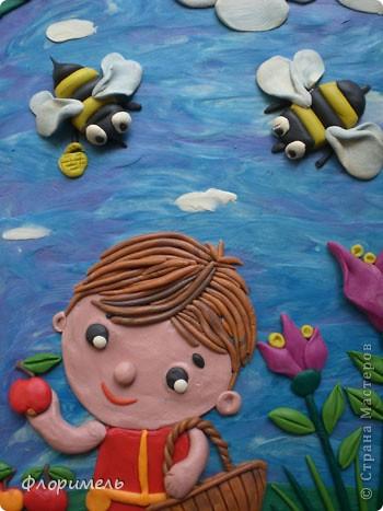 """Вот и """"созрела"""" новая картина из пластилина, с которой я хочу поучаствовать на """"Яблочном конкурсе"""" в СМ http://stranamasterov.ru/node/393249. фото 4"""
