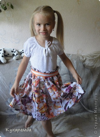 Юбка летняя для дочери фото 3