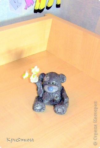 Мишка Тедди из солёного теста фото 2