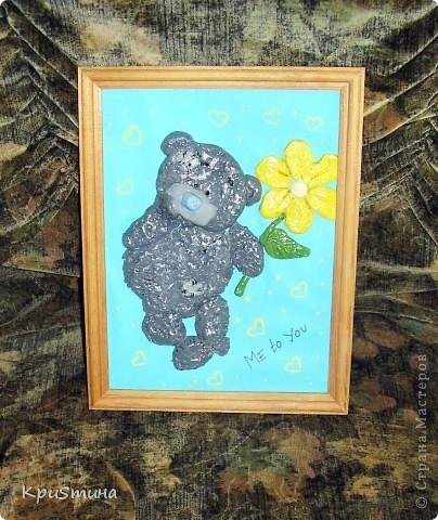 Мишка Тедди из солёного теста фото 1