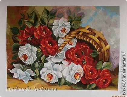 Добрый день, всем жителям Страны мастеров! Очень хотелось слепить перевернутую корзинку с розами. Вот что получилось.  фото 7