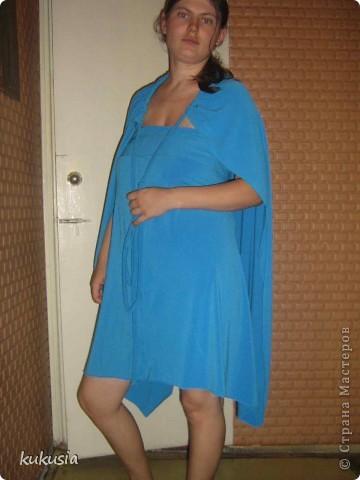 Сшила себе платье - трансформер Emami. Шьется очень легко , осилит даже начинающая портниха . выкройку взяла в итернете , просто в поисковике набрала емами ... фото 5