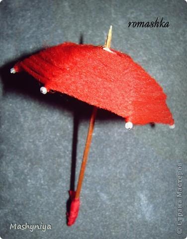 Зонтик для интерьерных куколок фото 2