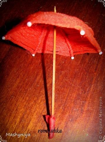 Зонтик для интерьерных куколок фото 1