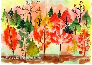 Печатиние листьями фото 2