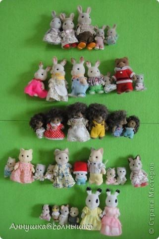 Моя коллекция Sylvanian Families. Все началось с малыша зайчика.Потом стало всё больше и  больше и  сейчас у меня 46   (на фото не все)    фото 1