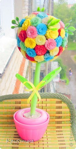 Цветочный шар из бумаги фото 1