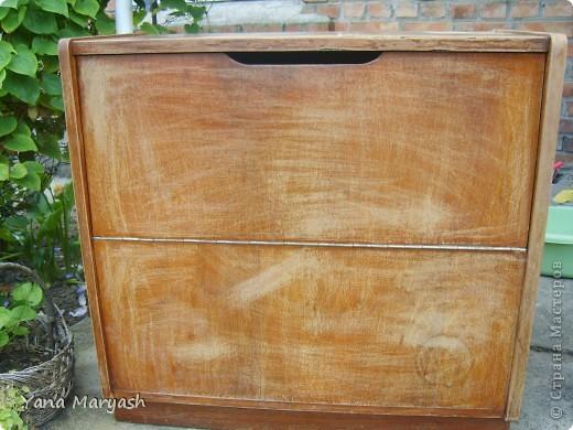 Вот такой милый комодик получился у меня из старенького деревянного.  фото 3