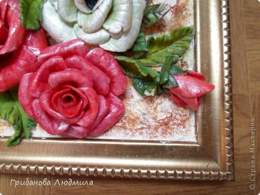 Добрый день, всем жителям Страны мастеров! Очень хотелось слепить перевернутую корзинку с розами. Вот что получилось.  фото 2