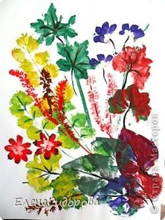 Печатиние листьями фото 1