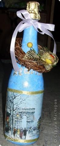 Декупаж бутылки фото 2