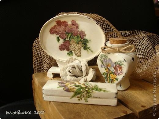 Баночка желаний, настольное панно, коробочка и роза (из рамки с ячейками для яиц).  фото 6