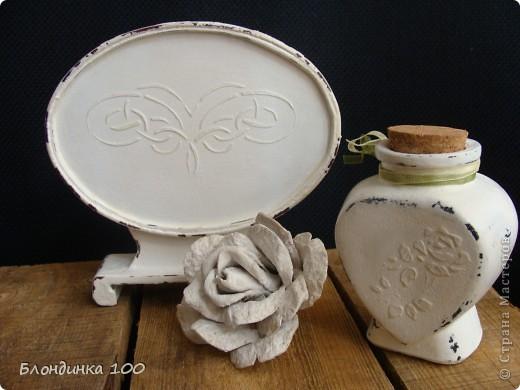 Баночка желаний, настольное панно, коробочка и роза (из рамки с ячейками для яиц).  фото 2