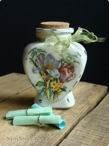 Баночка желаний, настольное панно, коробочка и роза (из рамки с ячейками для яиц).  фото 4
