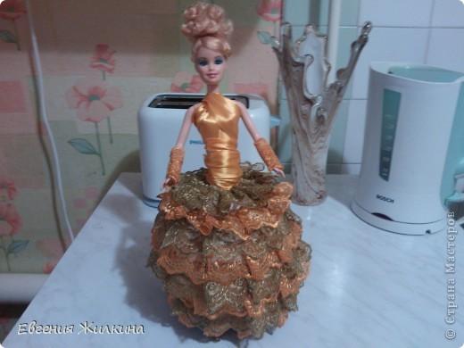 Поделка изделие День рождения Кукла-шкатулка Ленты фото 2.