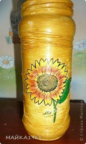"""ваза""""Подсолнух"""" фото 1"""