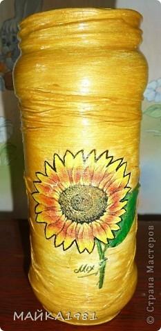 """ваза""""Подсолнух"""" фото 2"""