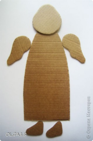 Ангелочки из упаковочного картона. Ручки  из проволоки. фото 15