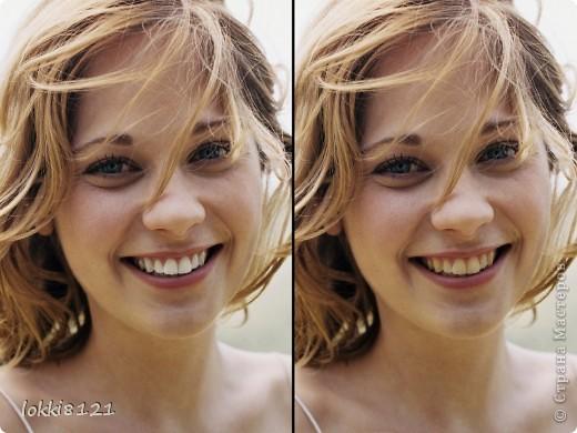 Здравствуйте, дорогие жители страны! Сегодня научимся секретам голливудских звезд, вернее тех, кто обрабатывает их фотографии, чтобы улыбки были белоснежными!  Итак, открываем фото в Photoshop фото 6