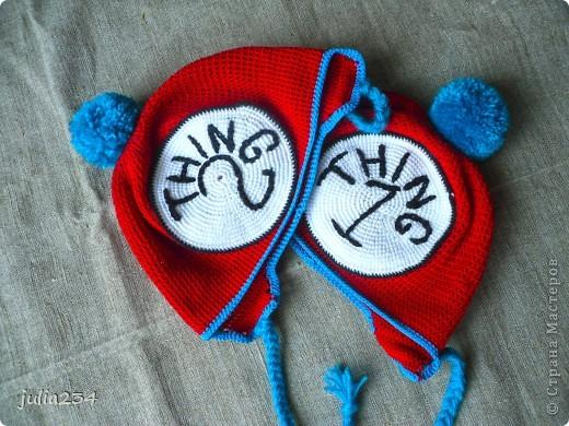 шапочки для двойняшек фото 2