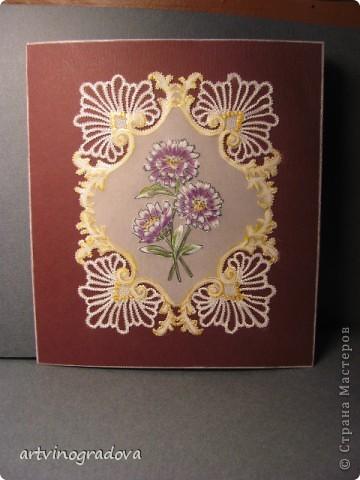 """открытка """"Цветы"""" фото 2"""