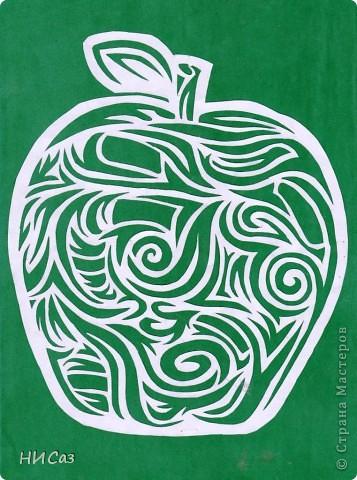 Увидела это яблоко и влюбилась в него с первого взгляда. Такого еще ни у кого не видела. Первое яблоко - картинка. фото 1
