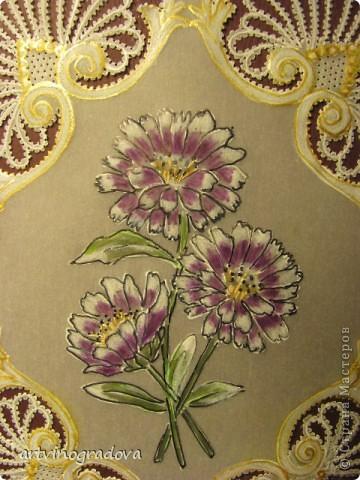 """открытка """"Цветы"""" фото 3"""