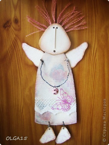 Ангелочки из упаковочного картона. Ручки  из проволоки. фото 8