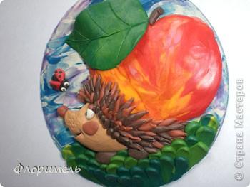 """Всем привет! Представляю вашему вниманию новую пластилиновую картинку, с которой я планирую поучаствовать в конкурсе на Хомячке """"Райские яблочки"""" http://homyachok-scrap-challenge.blogspot.com/2012/08/9.html фото 2"""