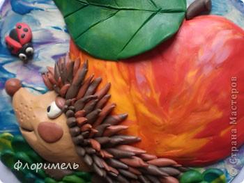 """Всем привет! Представляю вашему вниманию новую пластилиновую картинку, с которой я планирую поучаствовать в конкурсе на Хомячке """"Райские яблочки"""" http://homyachok-scrap-challenge.blogspot.com/2012/08/9.html фото 3"""
