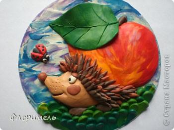 """Всем привет! Представляю вашему вниманию новую пластилиновую картинку, с которой я планирую поучаствовать в конкурсе на Хомячке """"Райские яблочки"""" http://homyachok-scrap-challenge.blogspot.com/2012/08/9.html фото 1"""