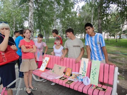 Привет Всем! город наш называется Костанай, располагается он в Казахстане. Наш городок не очень большой, но красивый и, как отмечают гости нашего города, чистый. Жил - был наш городок, и ведать не ведывал, что есть в нашем городе девчата, которые любят своими руками творить красоту и радовать своих окружающих своим мастерством. (фото панорамное, потому немного необычное) фото 32