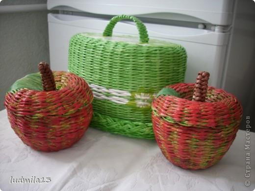 Всем добрый день!!! Очередная хлебница №3 и яблочки посыпались...  фото 1