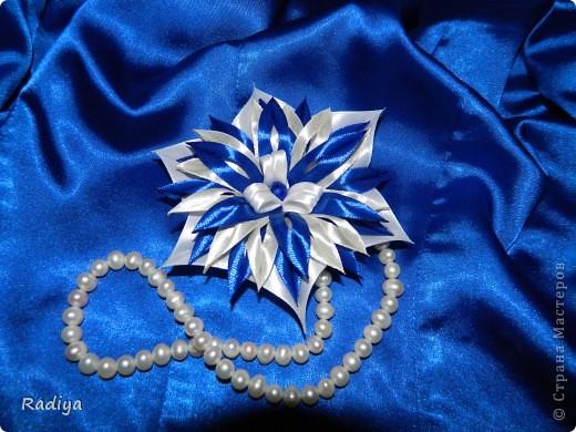 """Наконец-то сделала хоть что-то для себя! Это под синюю блузку, собственно говоря, на ее фоне цветочек и """"позирует"""". фото 1"""