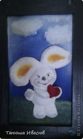 """Когда дорисовала небо, поняла, что зарисовала """"небом"""" все. В итоге пришлось бы зайчику, мишке и мышке висеть в небе (на голубом фоне). Но, если смешать синий с желтым выйдет зеленый))))).  фото 3"""