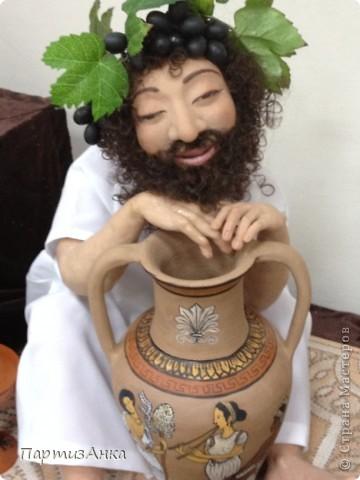 Привет, Страна! С 16-го по 19-е августа в Хайфе проходила всеизраильская выставка кукол ручной работы. Темой выставки был назван виноград и напитки из него:) Для начала - вот Вам Вакх, выбранный символом выставки. фото 21