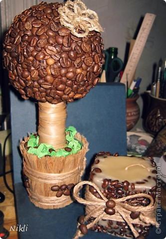 Свеча с ароматом кофе и сладкого апельсина. фото 2