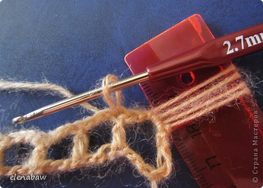 Мастер-класс Вязание крючком МК Узор в технике брумстик крючком Пряжа фото 10